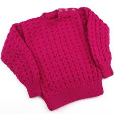 Hand Knitted Sweaters Designs For Baby Girl Hand Knitted Baby Girl Cable Jumper Sweater In Hot Pink To