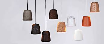 ing after these lovely minimal material pendants by noergaard kechayas made from concrete cork marble oak terracotta cast aluminium