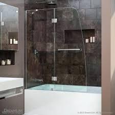 shower solutions aqua hinged tub door clear 1 4 glass door aqua glass shower door bottom aqua glass shower