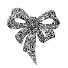 <b>Vintage</b> Rhinestone <b>Bow Brooches</b> for Women Black Bowknot ...