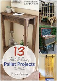 13 Easy DIY Pallet Projects- These 13 easy building tutorials use recycled  pallets. Pallet