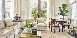 charming decorating living room white curtain grey frame window brown large rug beige sofa beige cushions