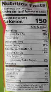 nutritional information and calories in trader joe s rolled corn tortilla chips
