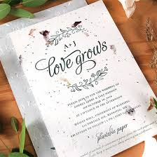 card invitation plantable wedding invitation card plantcil