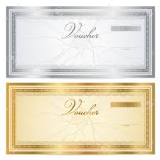 Coupon Outline Template Voucher Template With Guilloche Pattern Watermarks And Border
