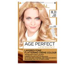 Light Beige Hair Loreal Paris Uk Excellence Age Perfect 831 Pure Beige