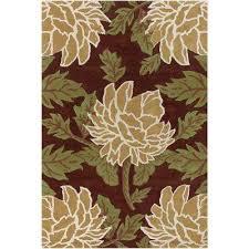 rowe brown green tan white 8 ft x 11 ft indoor