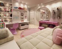 girls pink bedroom furniture. awesome teen bedroom furniture design with white bed along pink round pillow also desk and girls