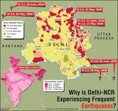 Many natural hazards are related to earthquake prone area, hot desert area, cold desert area, drought prone area, flood prone area and cyclone prone area of india. Why Is Delhi Ncr Experiencing Frequent Earthquakes Answers