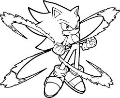 Super Sonic The Hedgehog Coloring Pages Trustbanksurinamecom