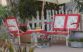 retro aluminum patio furniture. Summerland Vintage Patio Furniture-Tomato Retro Aluminum Furniture B