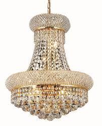 elegant lighting 1800d16 primo 8 light crystal chandelier