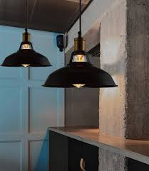 black kitchen lighting. 69 Examples Unique Vintage Black Shade Industrial Pendant Lamp For Kitchen Lighting Ideas Light Fixture With And Flush Mount Lights Over Marble Countertop D