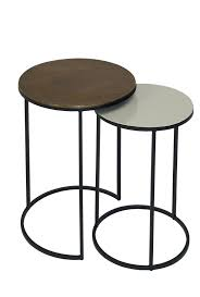 fera duo of round side tables pebble brass style our home rh styleourhome com round side