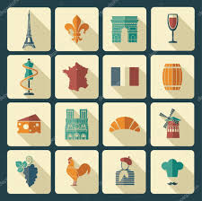 Traditional Symbols Traditional Symbols Of The French Culture Stock Vector Klava