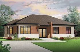 Small house plans  amp  Affordable house plans from DrummondHousePlans    Lotus bedroom Contemporary house plan  open living space  affordable to build