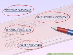 Calculate Monthly Paycheck How To Calculate Annual Salary With Salary Calculators