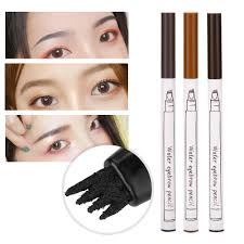 eye makeup eyebrow tattoo pen four forks long lasting liquid eyebrow waterproof sweat proof pencil make up hypoallergenic makeup makeup reviews from bitai