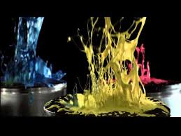 non newtonian fluid speaker. this is a fun and artistic use of non-newtonian fluids (paint) vibrating on speaker cone for advertising purposes. the shear-thinning viscous properties non newtonian fluid