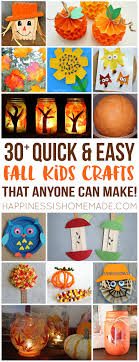 Make these quick + easy autumn fall kids crafts in under 30 minutes with  basic supplies