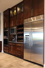 contemporary cabinet doors. Burrows Cabinets Kitchen With SoCo Modern Cabinet Door Style In Knotty Alder And Scalloped Wine Rack Contemporary Doors
