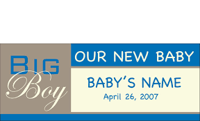 Welcome Home Baby Boy Banner Welcome Home Newborn Banner Sign Vinyl 23