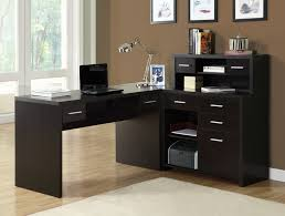 brown l shaped desks for home office