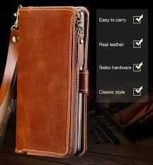 langsidi multifunction leather flip wallet