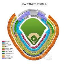 Yankee Stadium Legends Seating Chart Legends Of Summer Yankee Stadium Seating Chart New Yankee