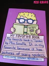 miss giraffe s class  above is my cheesy example the little spider i drew on the cover this is an example for opinion writing where students describe their favorite book