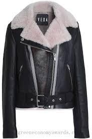 veda noble shearling biker jacket black for women uwcusr5877zi6