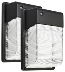 16w 25w led wall pack daylight set of 2 transitional outdoor wall lights and sconces by torchstar