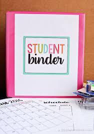 Free Printable Binder Templates Student Binder With Free Printables Thirty Handmade Days