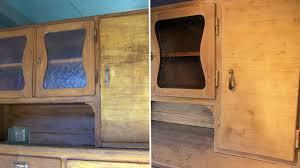 Art Deco Ahorn Vitrine Anrichte Sideboard Kommode192030