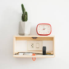 modern natural wood wall floating shelf nighstand – crowdyhouse