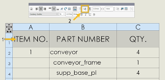 how to use the solidworks table cell
