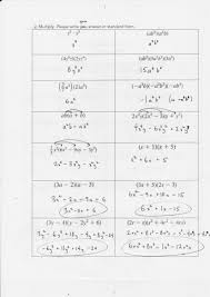 kindergarten factoring polynomials adding and subtracting math love notes polynomials worksheet