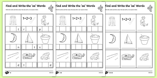Students look at the pictures and circle the correct word. Letters And Sounds Oa Words Differentiated Worksheets