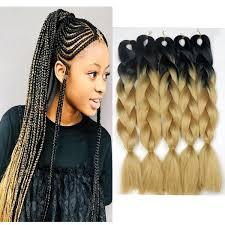 Ombre Braiding Hair Color Chart Honey Blonde Ombre Braiding Hair 1b 27 Black Roots Blonde Ombre Crochet Twist Hair 24 Inch 100g Synthetic Jumbo Braids Hair Freetress Bulk Freetress