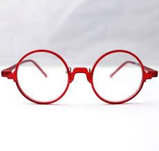 Red Photo Frames New Ultra Light Vintage Retro Flexible Round Unisex Black Amber Grey