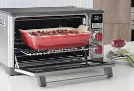 a casserole backing inside of a wolf countertop convection oven
