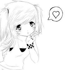 Small Picture Cute anime girl coloring pages cute anime girl colouring page