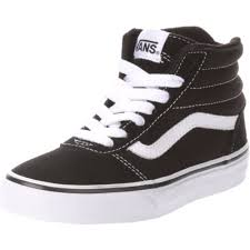 vans shoes black and white boys. vans boys\u0027 ward high-top shoes - view number black and white boys y