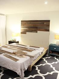 gorgeous diy wooden headboard with mdf and stikwood l and stick planks see