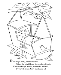 e67097b62d7d7dfd7925a2d80132b70d bluebonkers nursery rhymes coloring page sheets rock a bye on nursery rhyme printable books