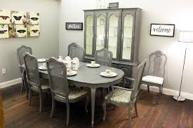 French Provincial China Cabinet And Dining Table With  Chairs - Dining room table and china cabinet