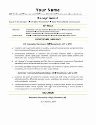 Receptionist Duties Resume Medical Office Receptionist Sample Resume Unique Template Monster 79