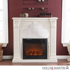 holly martin andorra electric fireplace ivory