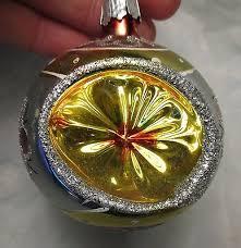 Glas Einrückung Silber Glitzer Glas Christbaumschmuck 2 3