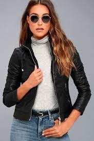 vegan leather jacket coalition la cute moto jacket black black jacket retro women dz18038